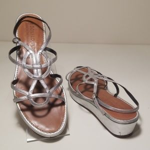 DONALD J. PLINER Silve Leather Sandals 7.5M